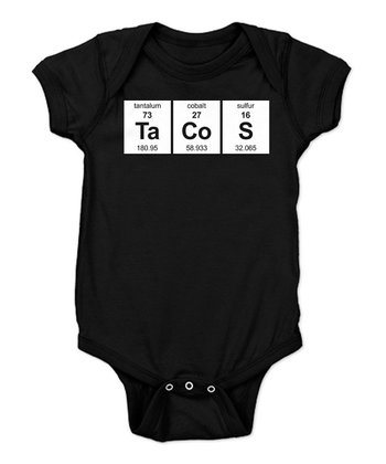 Black Taco Elements Bodysuit - Infant