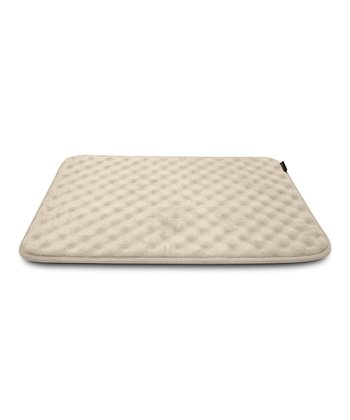 Cream Memory Foam Crate Mat