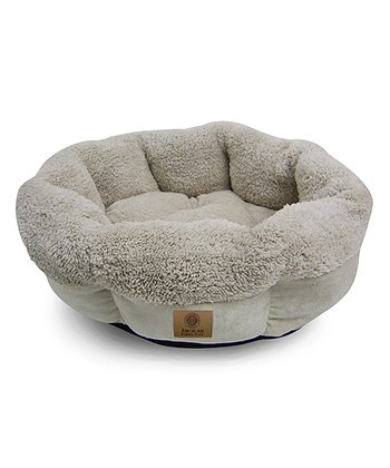 Cream Round Cuddler Pet Bed