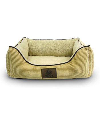 Canary Yellow Corduroy Orthopedic Cuddler Pet Bed