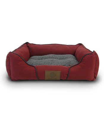 Red Plush Cuddler Pet Bed