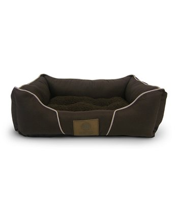 Brown Plush Cuddler Pet Bed