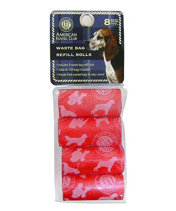Red Waste Bag Refill Rolls - Set of Eight
