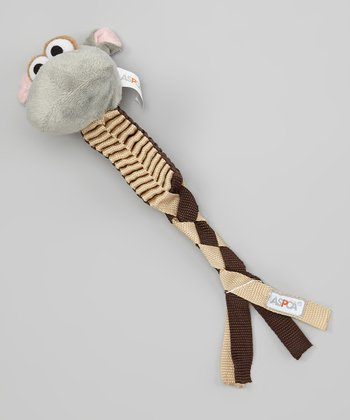 Hippo Ribbon Dog Toy