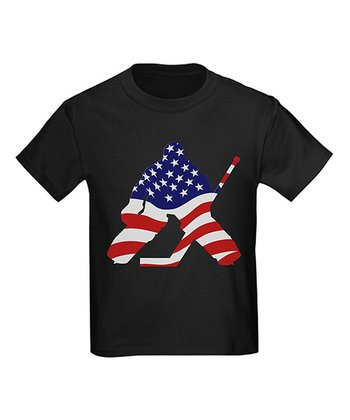 Black All-American Hockey Tee - Toddler & Kids