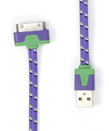 Purple Shoelace Sync & Charge 30-Pin Cable