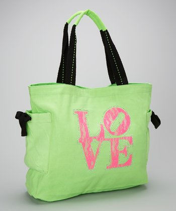 Happy Kids for Kids Pink & Lime 'Love' Tote