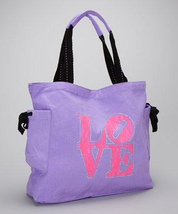 Happy Kids for Kids Purple & Pink 'Love' Tote