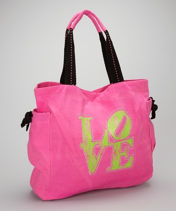 Happy Kids for Kids Lime & Pink 'Love' Tote