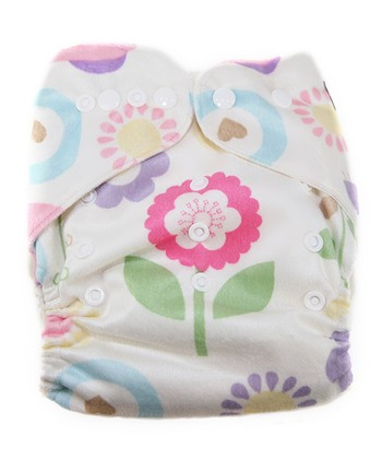 Pretty Owls Minky Pocket Diaper