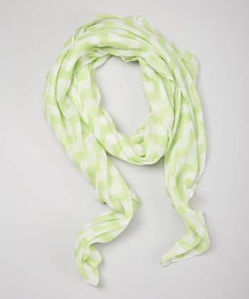 Lime Green Zigzag Scarf