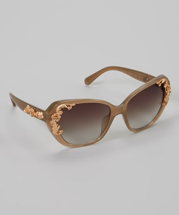Taupe & Gold Sunglasses
