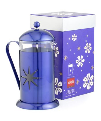 Blue Midnight Star 8-Cup French Press