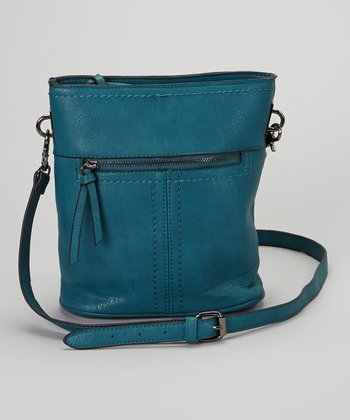 Teal Zippered Crossbody Bag