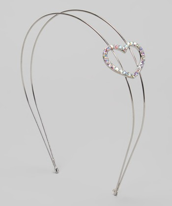 Silver Sequin Heart Headband