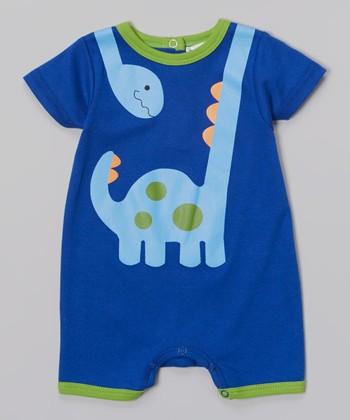 Rumble Tumble Blue & Green Dino Romper - Infant