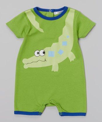Rumble Tumble Green Alligator Romper - Infant