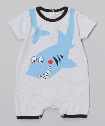 Rumble Tumble Gray Shark Romper - Infant