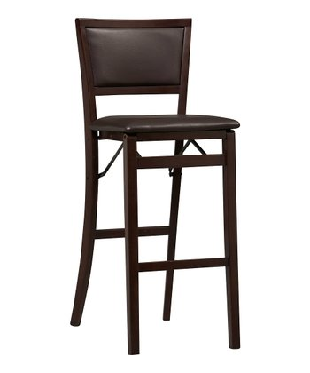 Espresso Keira Folding Bar Stool