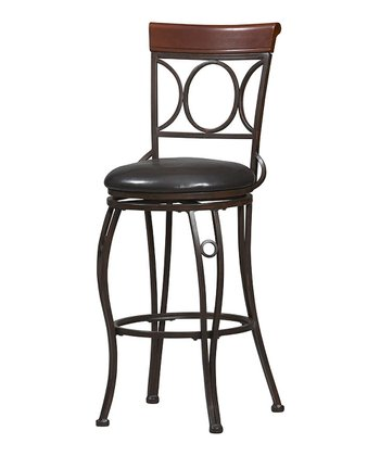 Brown & Black Circle Bar Stool