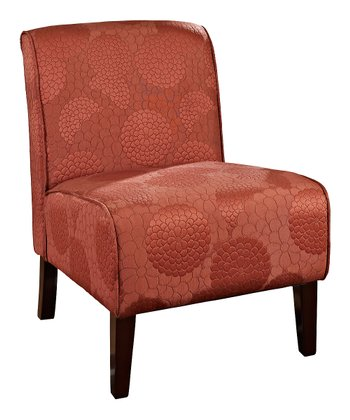 Dark Walnut & Burnt Orange Lily Canyon Chair