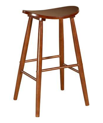 Oak Curve 24'' Stool