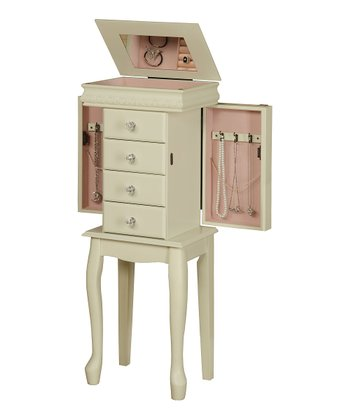 White Pearl Jewelry Armoire