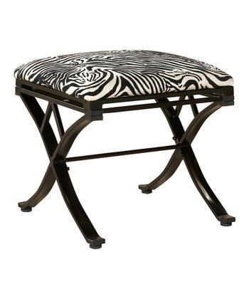 Black Zebra Vanity Stool