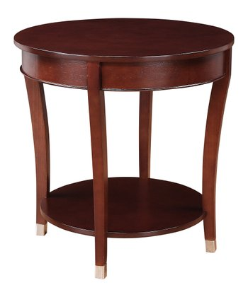 Espresso Round Accent Table