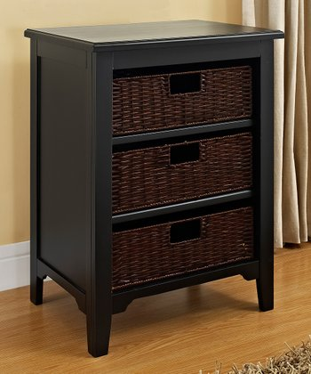 Black Anna Basket Cabinet