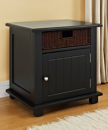 Black Anna Basket Side Table