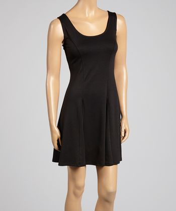 Black Princess Seam Sleeveless Dress - Women