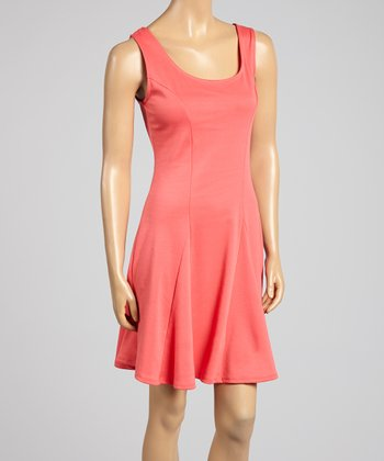 Coral Princess Seam Sleeveless Dress - Women