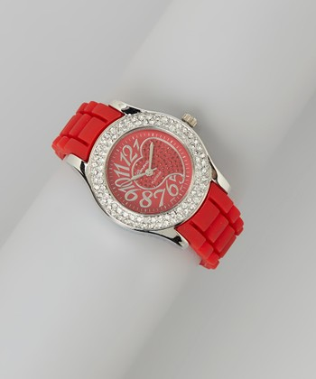 Red Heart Dial Watch Red