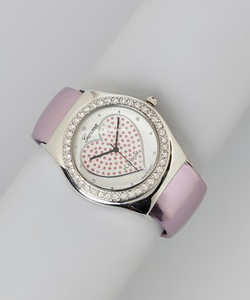 Violet Heart Dial Cuff Watch