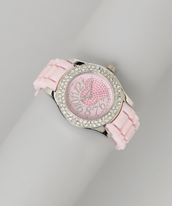Light Pink Heart Dial Watch