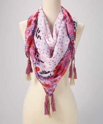 Pink & Fuschia Flower Dot Scarf
