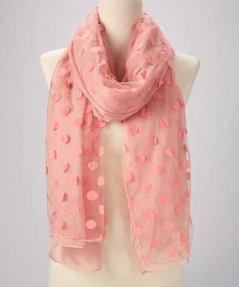 Blush Pink Dot Scarf