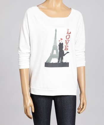 White Paris Dolman Top - Women