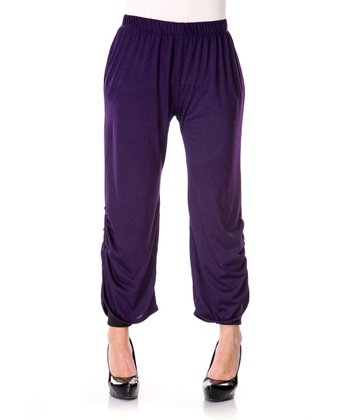 Purple Ruched Lounge Pants