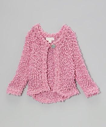 Pink Soho Flowers Cardigan - Toddler & Girls