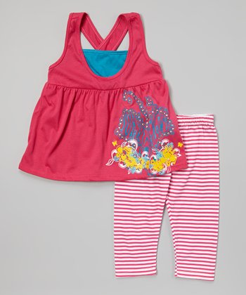 Pink Stud Floral Tunic & Leggings - Infant, Toddler & Girls