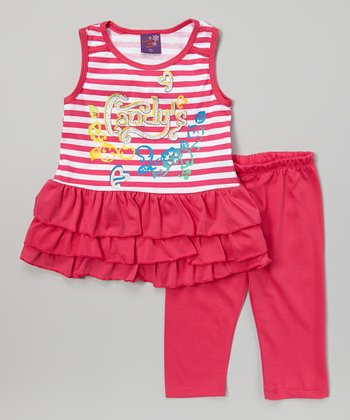 Pink Stripe 'Candy's' Tunic & Leggings - Infant, Toddler & Girls