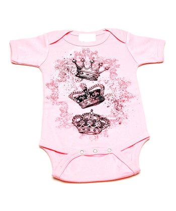 Pink Royal Crown Bodysuit - Infant