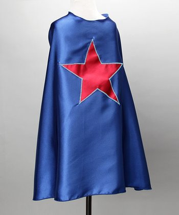Blue & Red Star Cape
