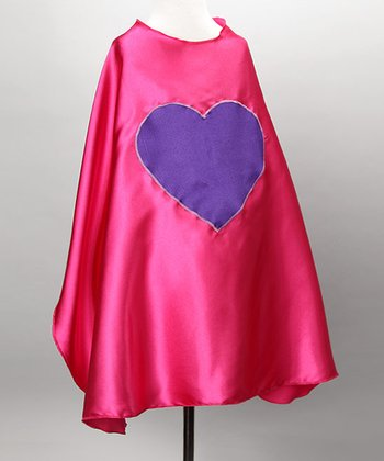 Fuchsia & Purple Heart Cape