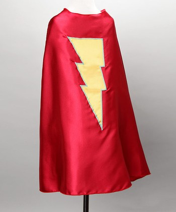 Red & Yellow Lightning Cape - Kids