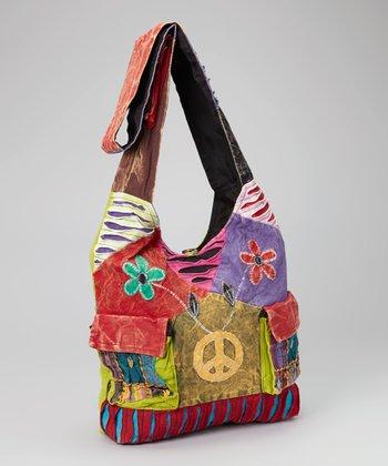 Fuchsia & Yellow Patchwork Crossbody Bag