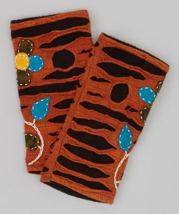 Rust Fingerless Gloves