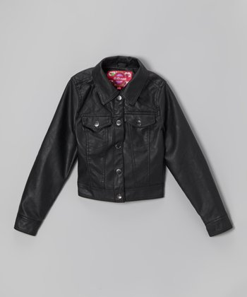Black Button-Up Jacket - Infant, Toddler & Girls